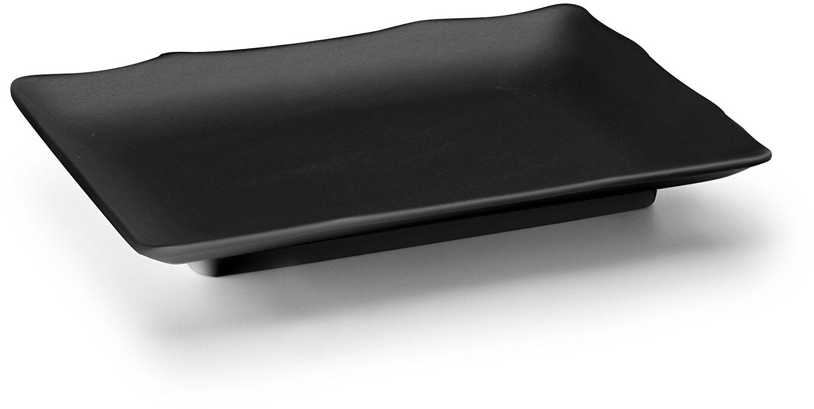 Lacor Naczynia do serwowania, melamina, czarne 25 x 17 x 3 cm