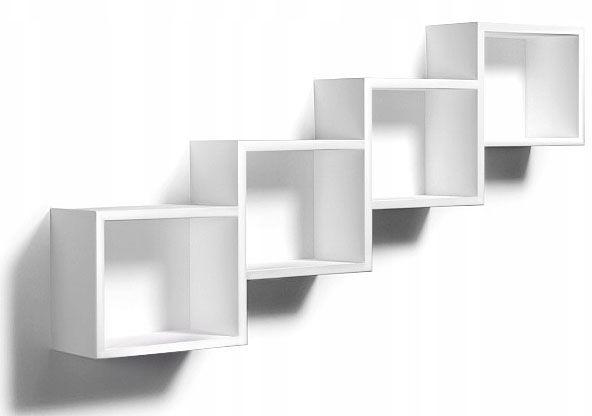 Biała wisząca półka w stylu skandynawskim - Ritta