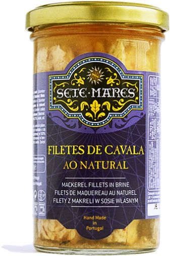 Filety z makreli w sosie własnym 250g Sete Mares