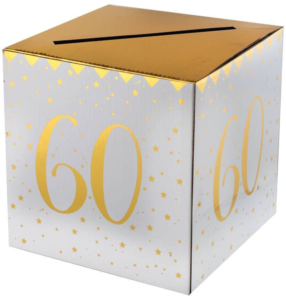 Pudełko na koperty z życzeniami, prezentami na 60-tkę - 1 szt.