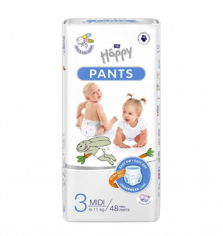 Bella Happy Pants Rozmiar 3, 48 pieluchomajtki