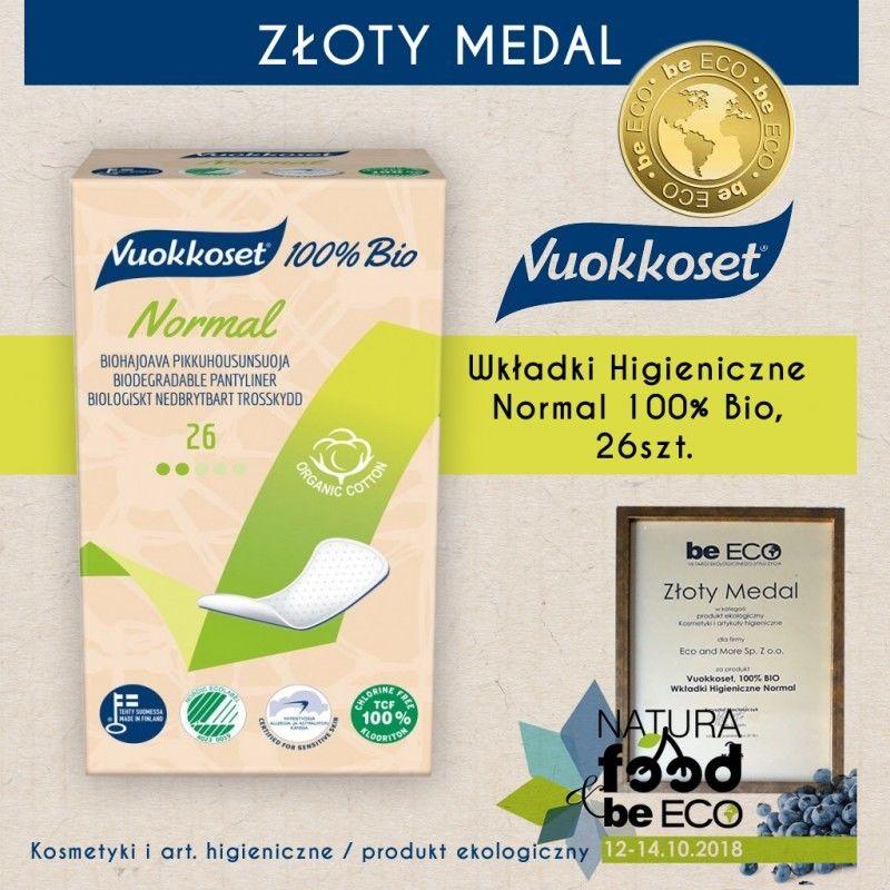 Vuokkoset, Wkładki Higieniczne Normal 100% Bio, 26szt.