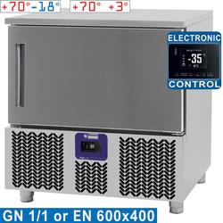 Szybka schładzarko-zamrażarka szokowa 5x GN 1/1 (lub) 600x400 (12-8 kg) +70 C -18 C & +70 C +3 C