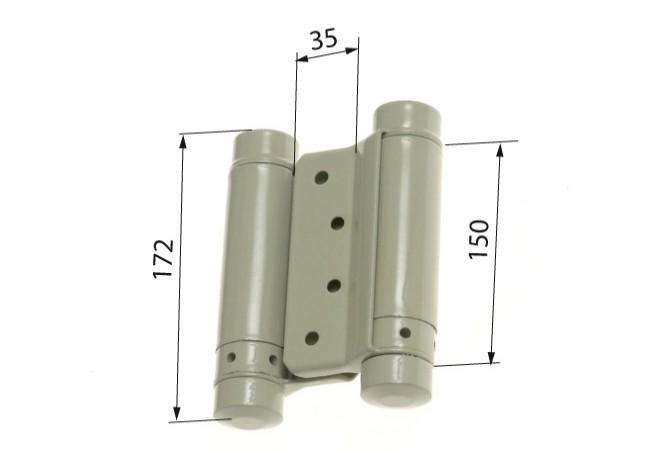 Zawias sprężynowy wahadłowy 150 mm lakierowany