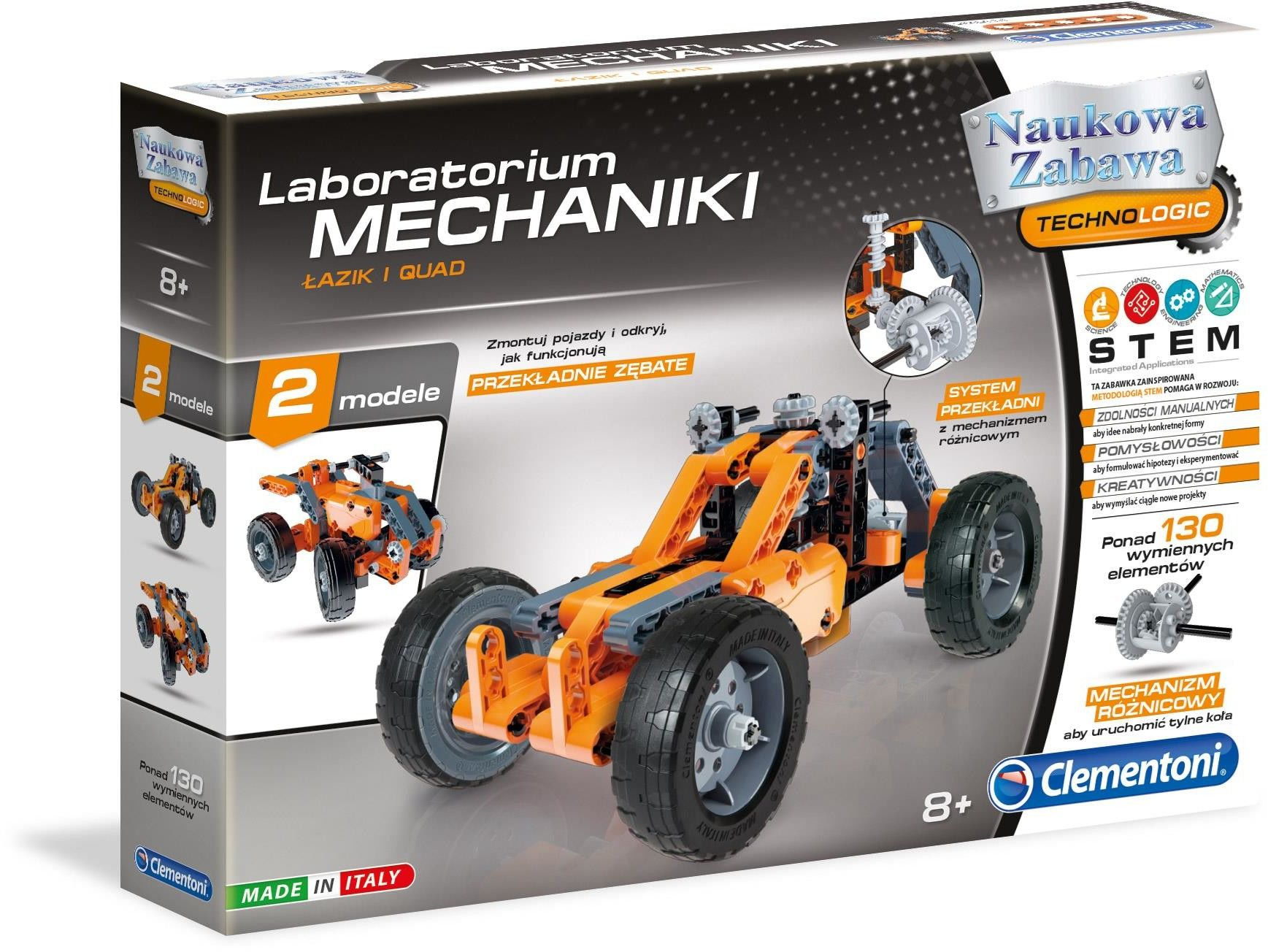 Clementoni - Laboratorium mechaniki Łazik i Quad 60954