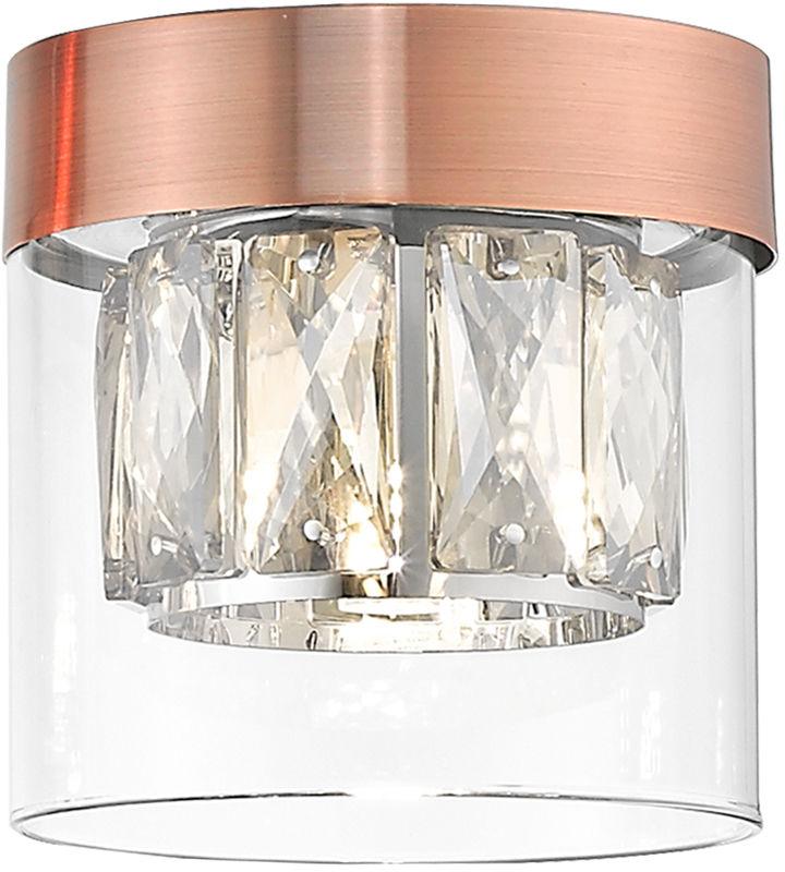Zuma Line C0389-01A-L7AC GEM plafon lampa sufitowa miedziany chrom 1xG9 28W 11cm