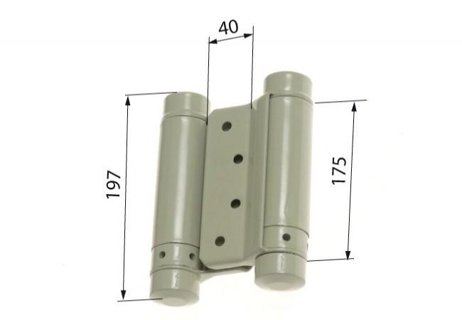 Zawias sprężynowy wahadłowy 175 mm lakierowany