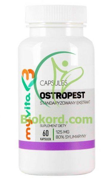 Ostropest 125 mg 80% Sylimaryny Myvita, Kapsułki