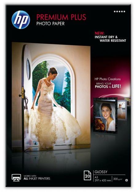 Papier A3 HP Photo Premium Plus błyszczący 300g 297 x 420mm (20 ark) (CR675A)