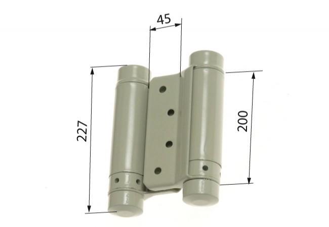 Zawias sprężynowy wahadłowy 200 mm lakierowany