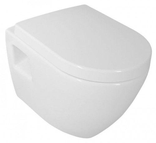 Miska WC wisząca 35,5x50 cm biała ceramika NERA