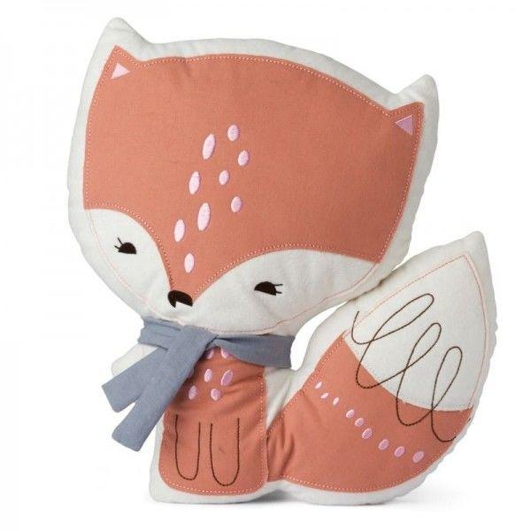 Picca Loulou - Poduszka Dekoracyjna Pan Lisek Pink 28 cm