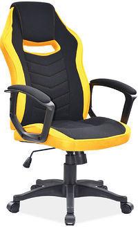 Fotel obrotowy gamingowy CAMARO CZARNY/ŻÓŁTY
