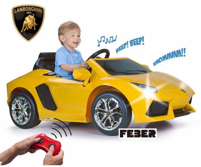 FEBER Samochód na Akumulator Lamborghini Aventador 6V LK