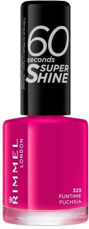 Rimmel London 60 Seconds Super Shine lakier do paznokci 8 ml dla kobiet 323 Funtime Fuchsia