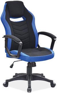 Fotel obrotowy gamingowy CAMARO CZARNY/NIEBIESKI