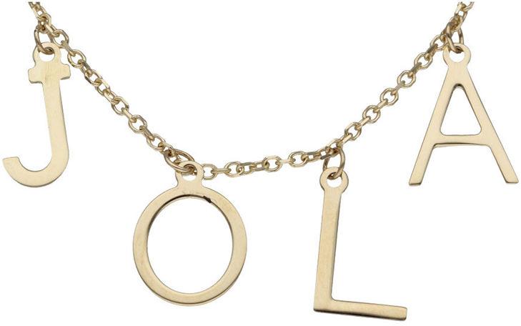 Złoty naszyjnik 585 łańcuszkowa z imieniem Jola 2,08 g