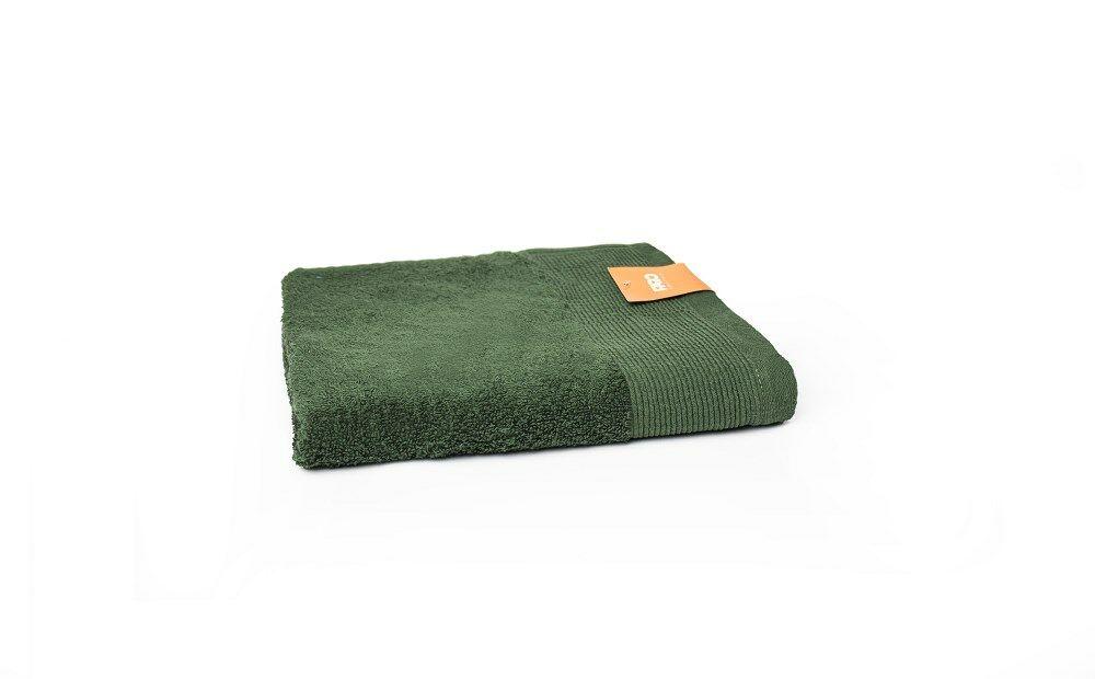 Ręcznik Aqua 50x100 zielony butelkowy frotte 500 g/m2 Faro