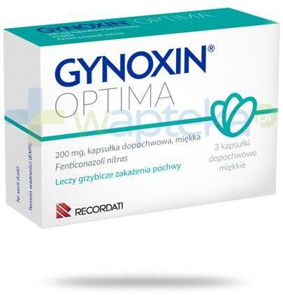 Gynoxin Optima 200 mg kapsułki dopochwowe 3 sztuki