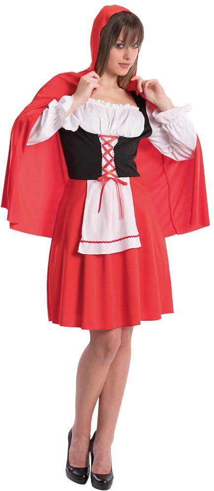 Carnival Toys Kostium Czerwonego Kapturka, unisex, wielokolorowy, rozmiar uniwersalny, 83053