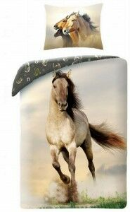 Pościel bawełniana 140x200 koń Siwy