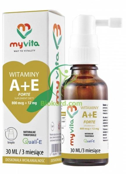 Krople Witamina A 800 mcg + E 12 mg Forte 30 ml