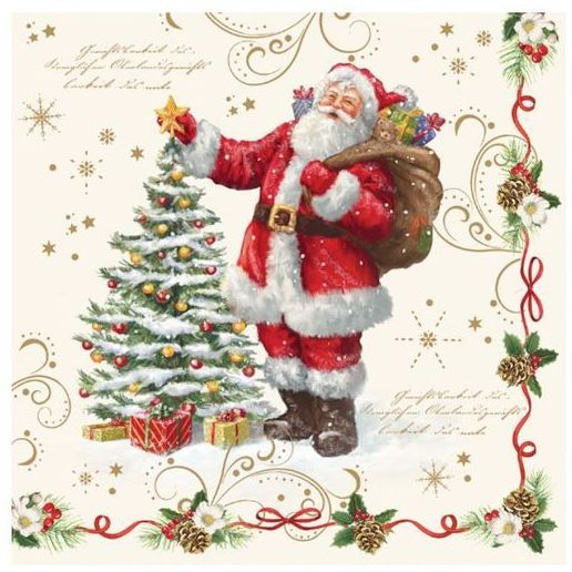 ŚWIĄTECZNE SERWETKI PAPIEROWE Mikołaj i choinka Magical Christmas