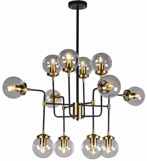 Creative Gold - żyrandol 12 ramion art deco