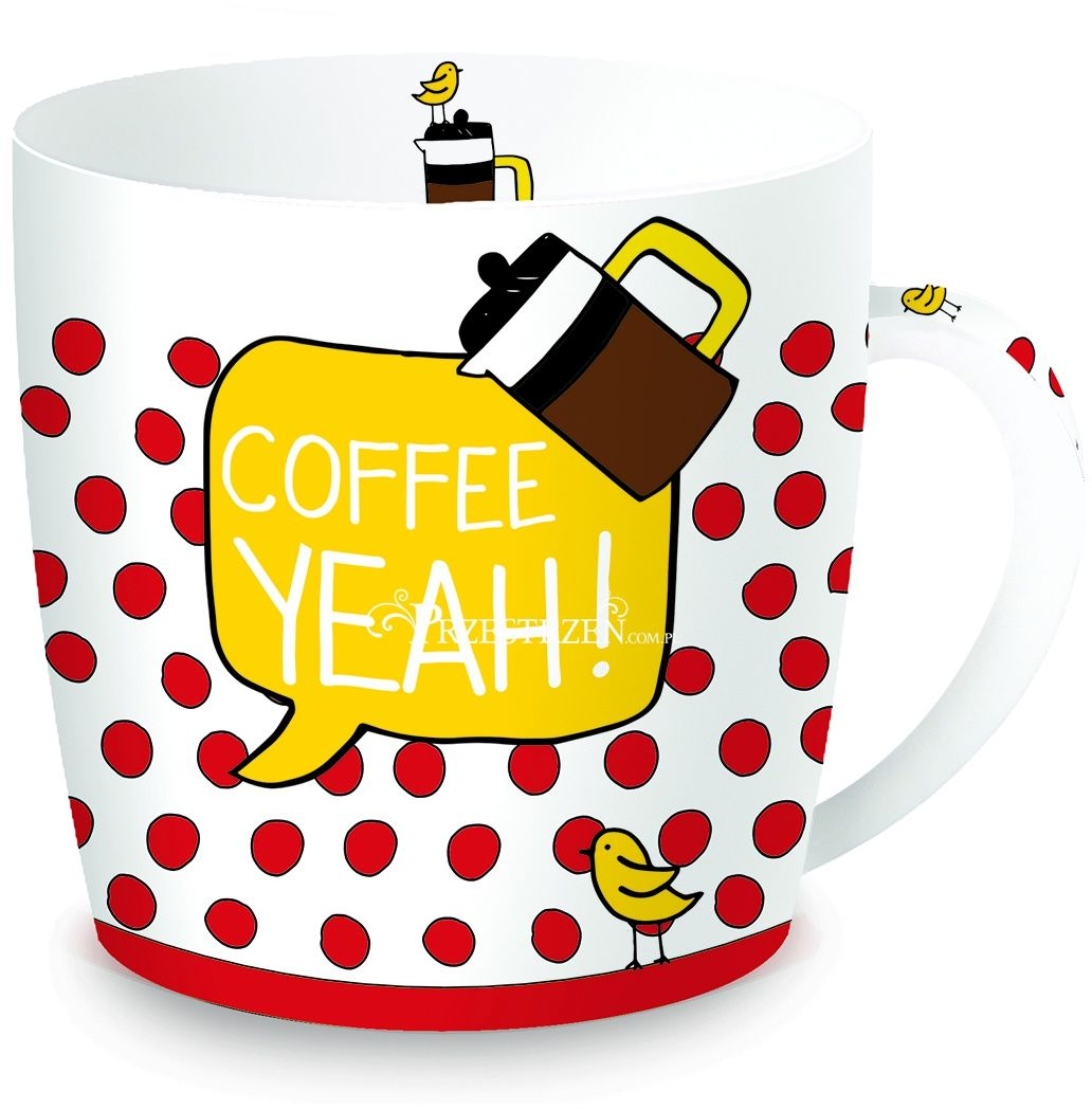 KUBEK PORCELANOWY Coffee YEAH! (217 COYE) w puszce
