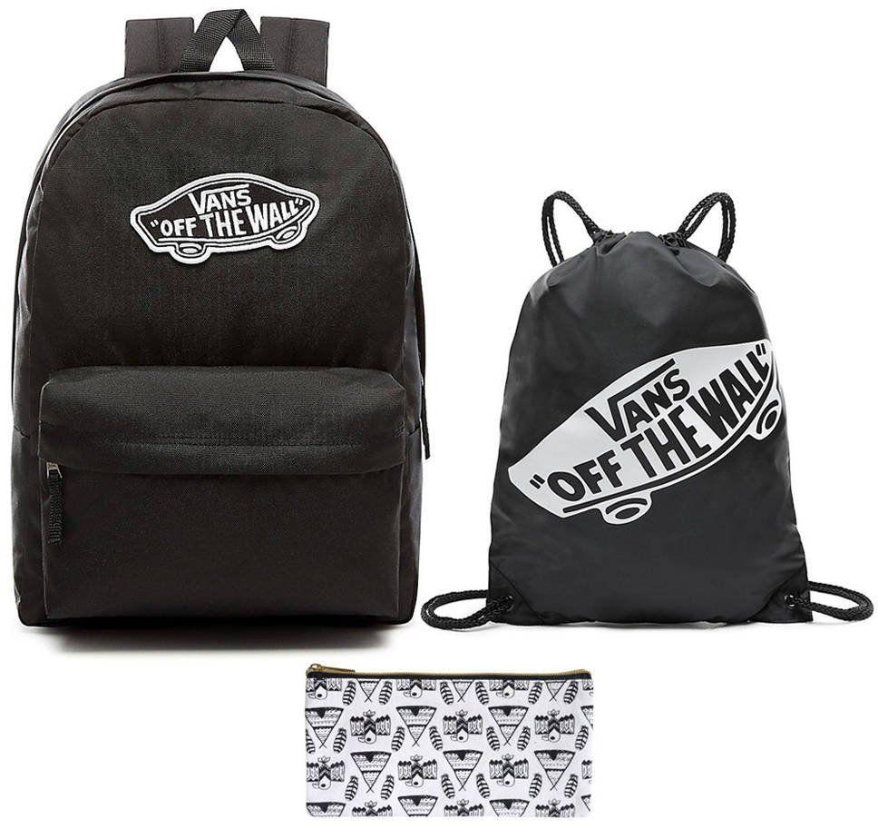 Plecak VANS Realm Backpack szkolny - VN0A3UI6BLK + Worek + Piórnik