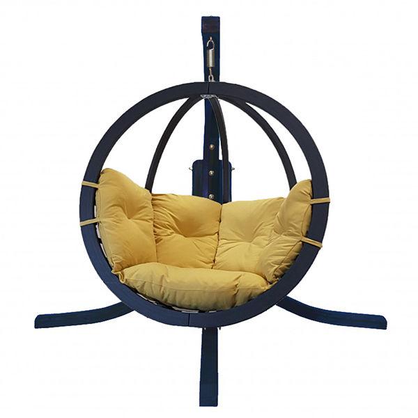 Zestaw: stojak Alicante antracyt + fotel Swing Chair Single antracyt, musztardowy Alicante+Swing Chair Single (8)