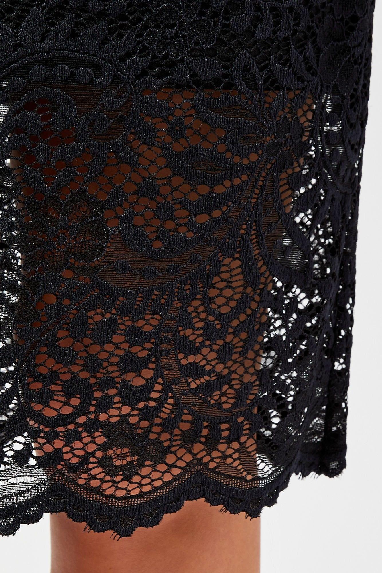 Spódnica elastyczna z koronką