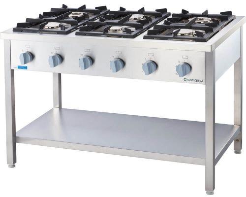 Kuchnia Gazowa 6-Palnikowa 36,5 kW G30 Wolnostojąca