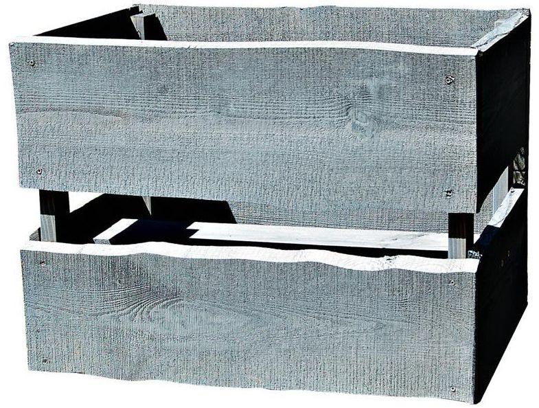 Donica ogrodowa 56 x 29 cm drewniana szara NEVADA WERTH-HOLZ