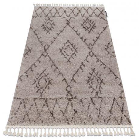 Dywan BERBER FEZ G0535 beż / brąz Frędzle berberyjski marokański shaggy 80x150 cm