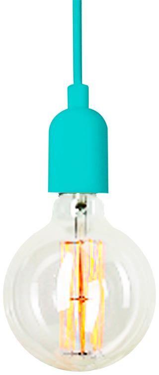 Dziecięca lampa wisząca E445-Silikar - turkusowy