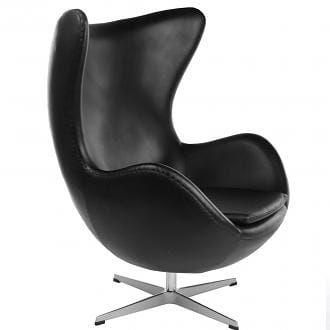 Fotel JAJO - inspirowany proj. Egg Chair - skóra