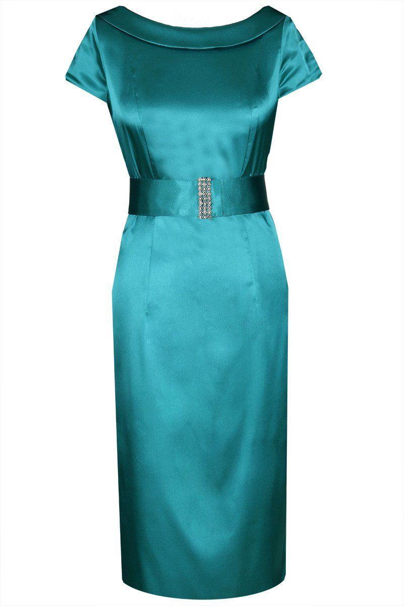 Sukienka FSU199 NIEBIESKI MORSKI