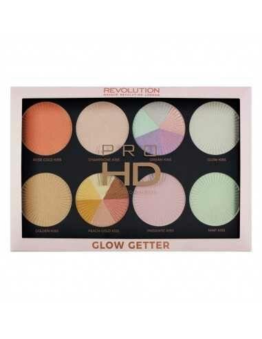 Makeup Revolution Pro HD Highlighter Palette Glow Getter paleta rozświetlaczy