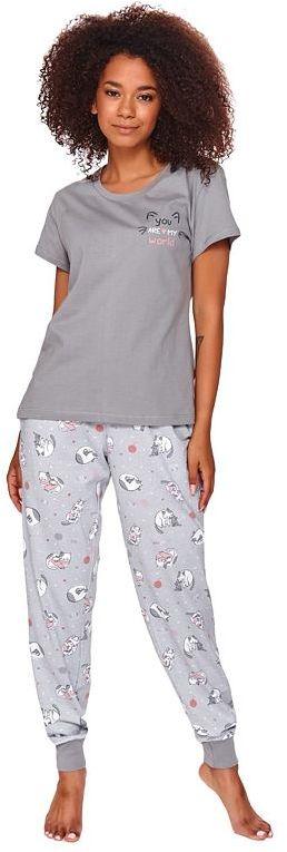 Piżama damska Jitka szara w