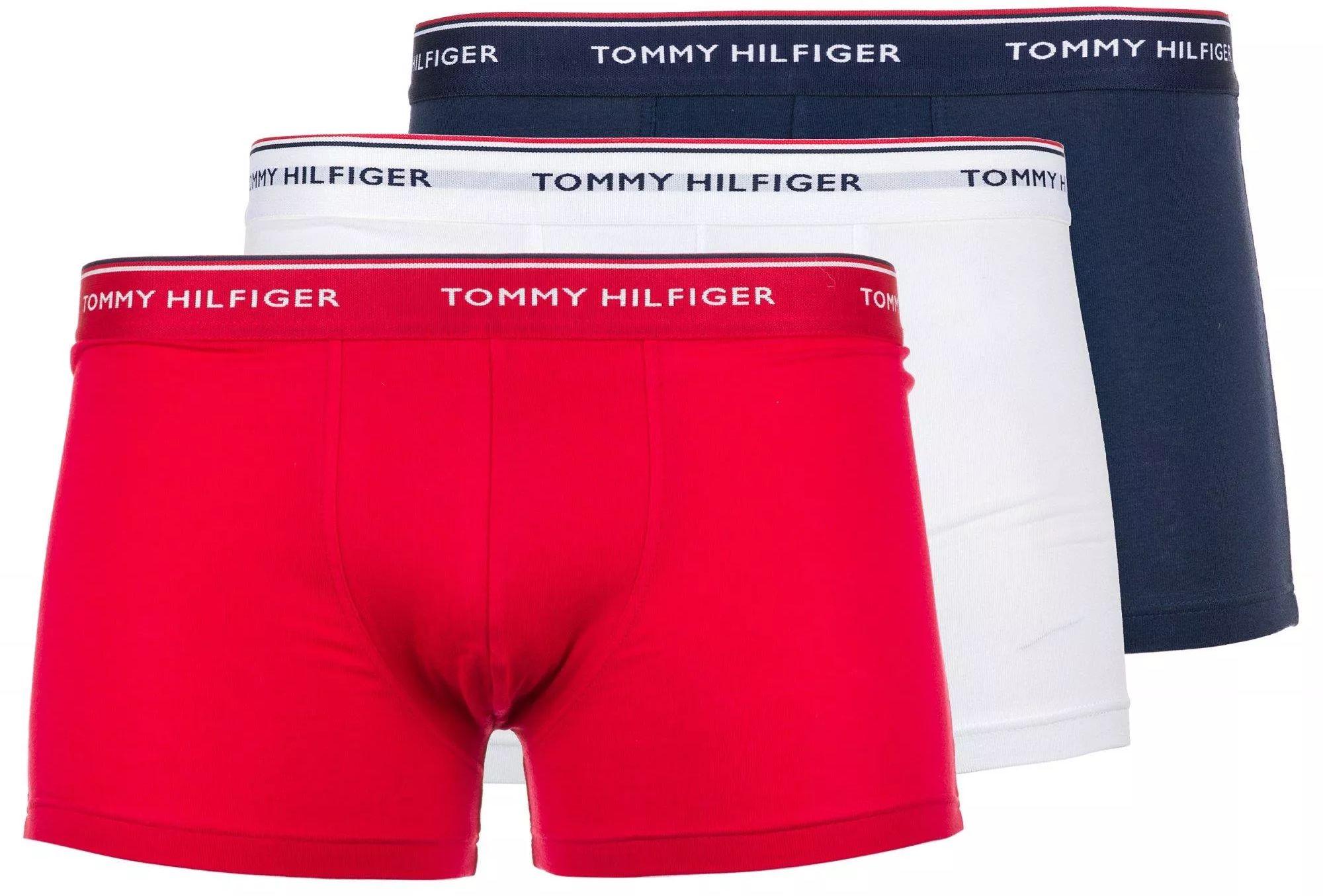 Bokserki Underwear Tommy Hilfiger 3-Pack Białe Granatowe Czerwone