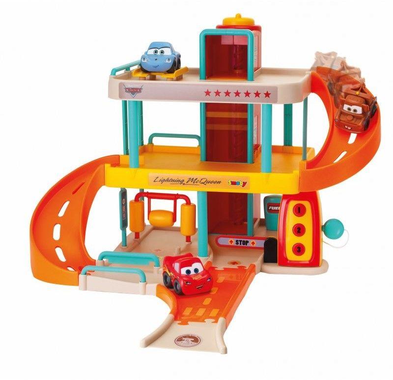 Garaż Vroom Planet Cars Parking Dla Dzieci Smoby + Autko Zygzak McQueen