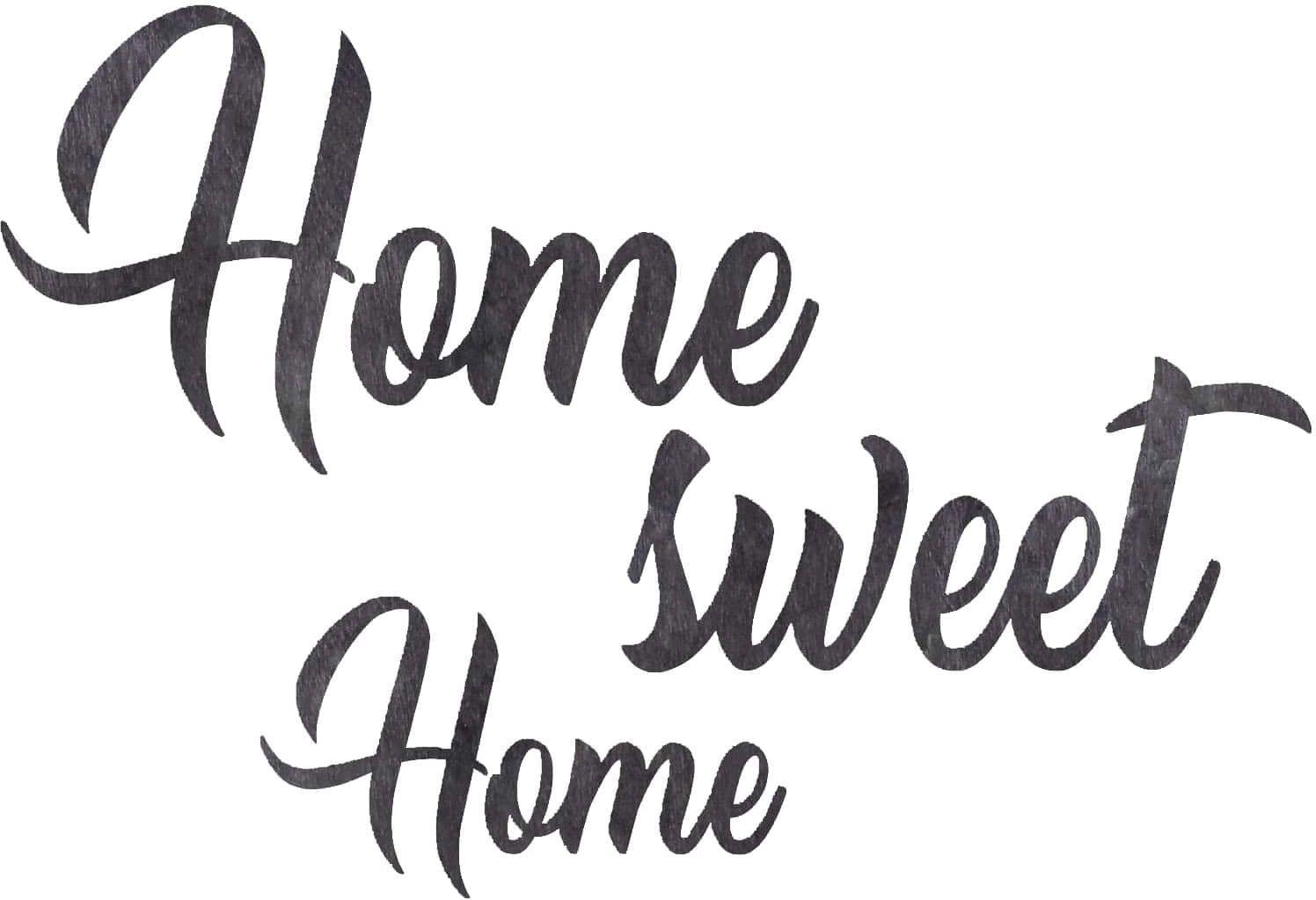 Dekoracja napis na ścianę Home sweet Home