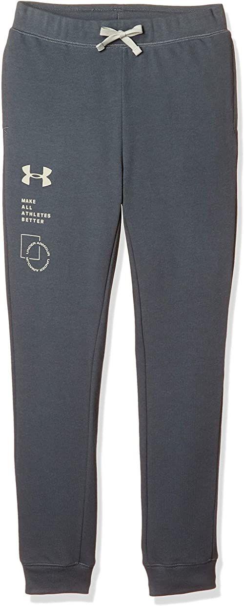 Under Armour Spodnie dresowe dla chłopców Rival Terry Pants, Pitch Gray (012)/Khaki Base, S