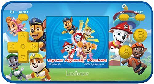 Lexibook JL1895PA Paw Patrol Chase Podręczna konsola z 150 grami, kieszeń Cyber Arcade kieszeń, czerwony/niebieski