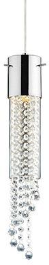 Lampa wisząca Gocce SP1 089669 Ideal Lux chromowana oprawa w nowoczesnym stylu