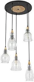 Lampa wisząca Gretel SP5 103174 Ideal Lux oprawa w stylu rustykalnym