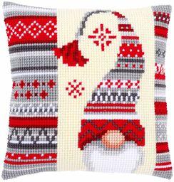 Vervaco Zestaw do haftu krzyżykowego: Elf bożonarodzeniowy 2, bawełna, N A, 40 x 40 cm