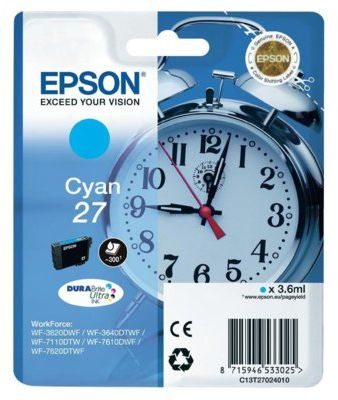 Wkład atramentowy EPSON 27 Cyjan