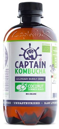 Napój Captain Kombucha Coconut Summer Beach - kokosowy BIO 400ml